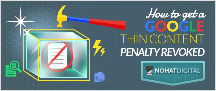Google Thin Content Penalty Revoked