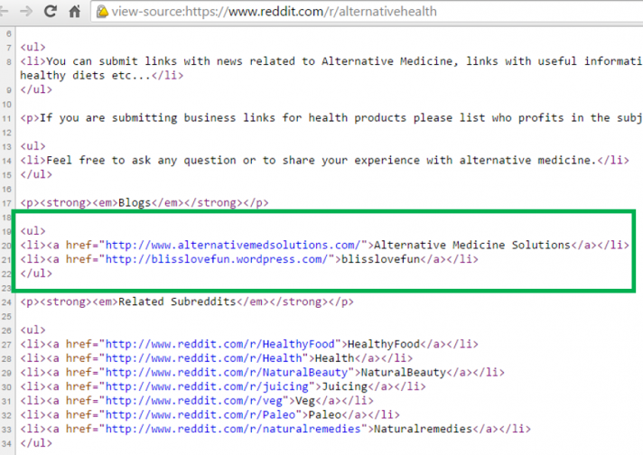 source code do follow links